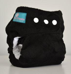 Imaginea Midnight Black Minky One Size