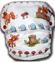 Imaginea Toadstools, Snails and Foxes Tails - Medium AI2 Cloth Diaper
