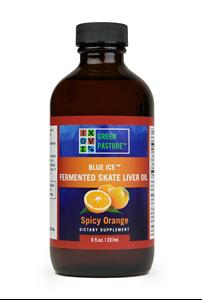 Imaginea BLUE ICE™Ulei fermentat din ficat de peste cartilaginos - Skate - Spicy Orange